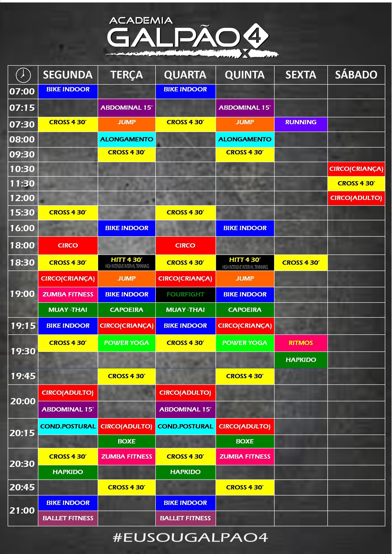 horario NOVO 2016